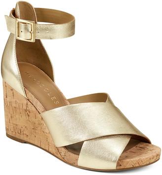 Aerosoles Women's Sandals GOLD - Metallic Gold Carnegie Leather Sandal - Women