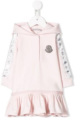 Moncler Enfant Logo Embroidered Hoodie Dress
