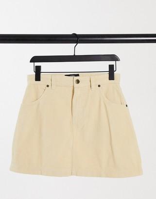 Dickies Shongaloo cord skirt in cream