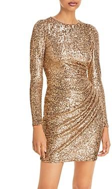 Aqua Sequined Surplice Dress - 100% Exclusive