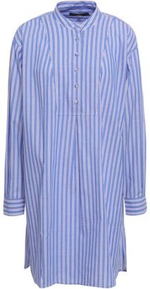 ALEXACHUNG Striped Cotton-poplin Mini Shirt Dress