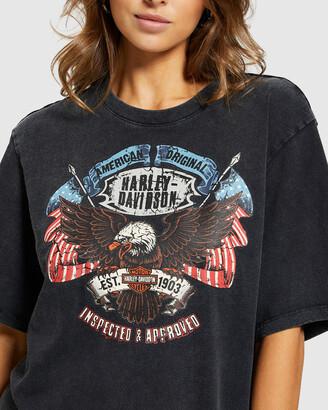 Harley-Davidson Ss Flag Fb Moto Print Tee