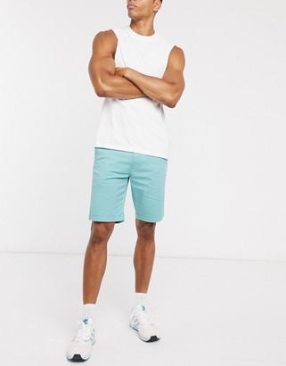 Levi's tapered fit chino shorts in jade blue twill