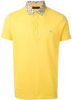 Etro contrast collar polo shirt - men - Cotton - XL