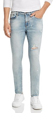 Victoria's Secret The People 1990 Destroyed Skinny Fit Jeans in Wasted Indigo