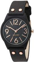Nine West Women's NW/1932BKRG Matte Rubberized Bracelet Watch