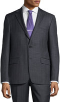 Hickey Freeman Classic-Fit Pinstripe Suit, Charcoal