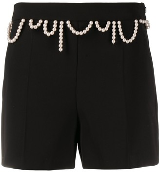 Boutique Moschino Beaded Straight Leg Shorts