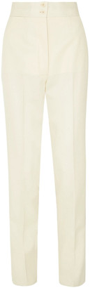 Giuliva Heritage Collection Dorothea Silk-trimmed Wool Tapered Pants