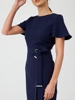 Very Angel Sleeve Pencil Dress - Navy