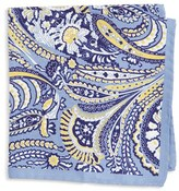 Eton Men's Paisley Silk Pocket Square