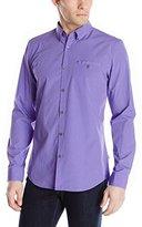 Calvin Klein Men's Mini Gingham Check Long Sleeve Woven Shirt