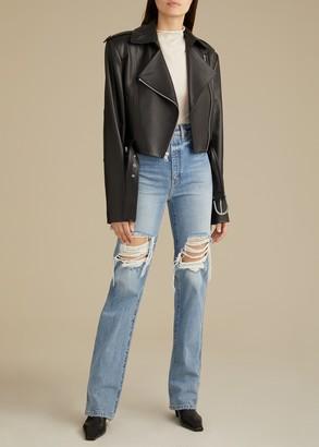 KHAITE The Jennifer Jacket in Black Leather