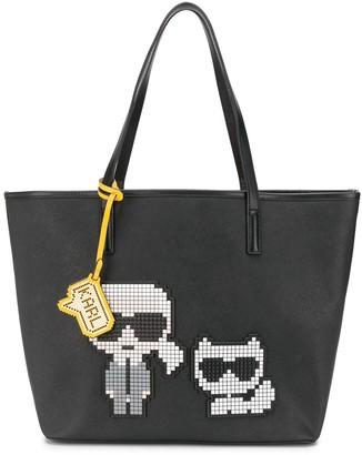 Karl Lagerfeld Paris K/Pixel & Choupette tote