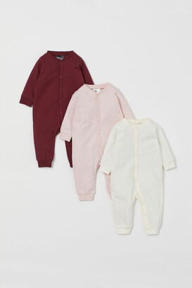 H&M 3-pack Cotton Jumpsuits - Red