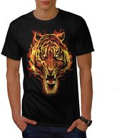 Fire Tiger Beast Animal Men XXXL T-shirt | Wellcoda