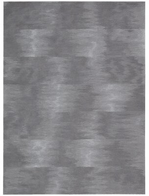 """Calvin Klein Reflective Abstract Hand-Knotted Gray Area Rug Rug Size: Rectangle 5'6"""" x 7'5"""""""