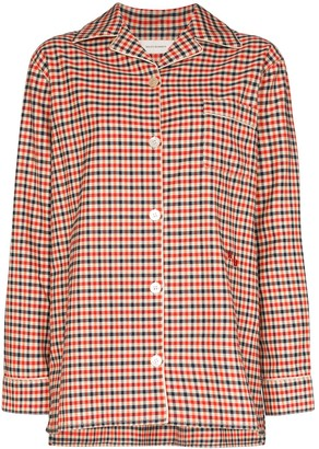 Wales Bonner Checked Pyjama Style Shirt