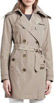 """Burberry Balmoral"""" Trenchcoat with Removable Hood, Sisal"""