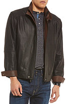 Daniel Cremieux Signature Sussex Double-Collar Full-Zip Leather Jacket