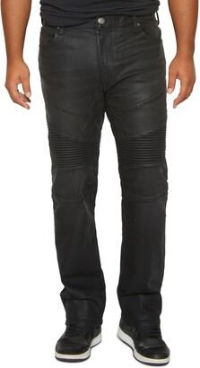 MVP Collections Straight Leg Biker Jeans