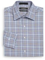 Saks Fifth Avenue Slim-Fit Plaid Cotton Dress Shirt