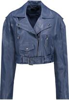 Tibi Anesia belted leather jacket