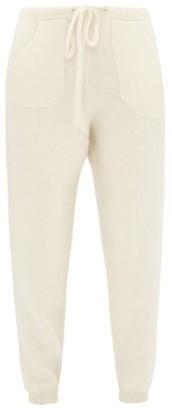 The Elder Statesman Patch-pocket Cashmere Track Pants - Womens - Ivory
