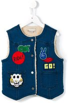 Stella McCartney 'Royce' denim gilet - kids - Cotton/Polyester/Spandex/Elastane/Lyocell - 12 yrs
