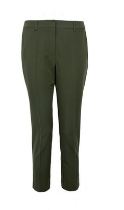 Dorothy Perkins Womens Dp Petite Khaki Ankle Grazer Trousers