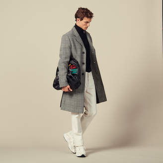 Sandro Prince Of Wales Check Straight-Cut Coat