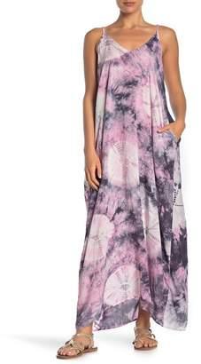 Love Stitch Tie Dye Sleeveless V-Neck Maxi Dress