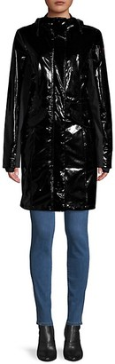 Pajar Faux Leather Hooded Jacket