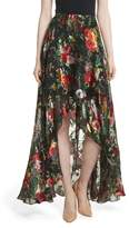 Alice + Olivia Floral Faux Wrap Maxi Skirt