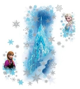 York Wall Coverings York Wallcoverings Frozen Ice Palace with Else and Anna Peel and Stick Giant Wall Decals