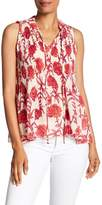 Romeo & Juliet Couture Floral Pleat Tank