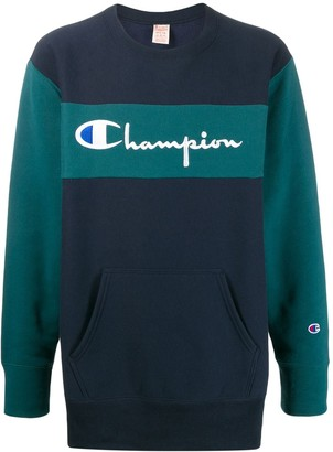 Champion Two-Tone Embroidered Logo Sweatshirt