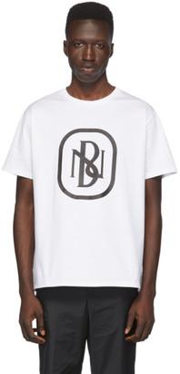 Neil Barrett White New Logo T-Shirt