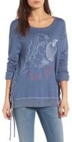 Sundry Women's New York Lace-Up Sweatshirt