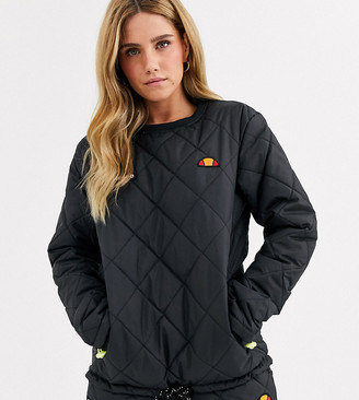 Ellesse sweatshirt in quilting co-ord