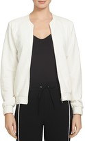 1 STATE 1.STATE Textured Grid Bomber Jacket