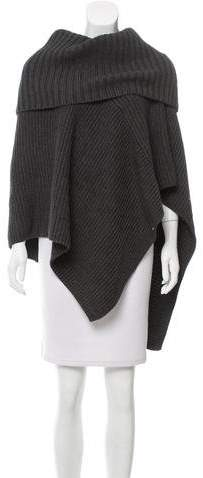 Michael Kors V-Neck Knit Poncho
