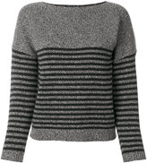 Bellerose elbow patch striped jumper