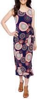 Robbie Bee Sleeveless Circles Maxi Dress-Petites