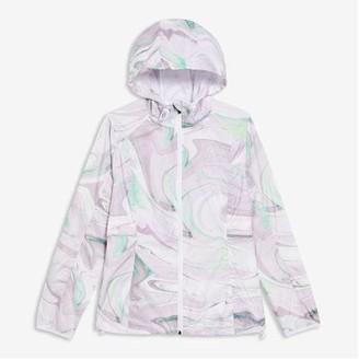 Joe Fresh Women's Print Active Running Jacket, Lavender (Size S)