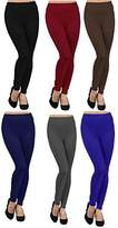 Ruthy's Apparel 6 Pack Fleece Lined Leggings Large Multicoloured