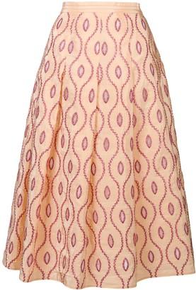 Marni Embroidered Pattern Skirt