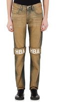Hood by Air MEN'S THE KNEES JEANS-BROWN SIZE 28