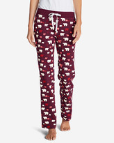 Eddie Bauer Women's Stine's Knit Sleep Pants - Print
