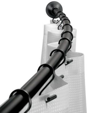 """InterDesign Curved Matte Black Shower Curtain Rod 41""""-72"""" Bedding"""